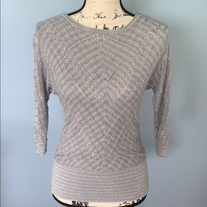 WHITE HOUSE BLACK MARKET small silver sweater